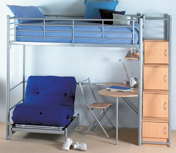 loft bed with sofa and storage 2