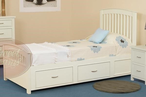 white single bed with drawers 1