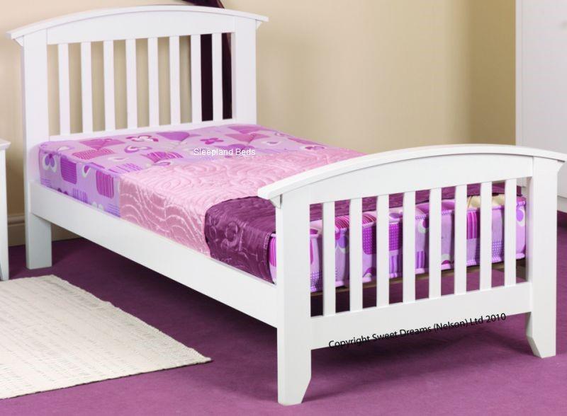 White Wooden Kipling Bed Frame By Sweet Dreams | 3ft Single