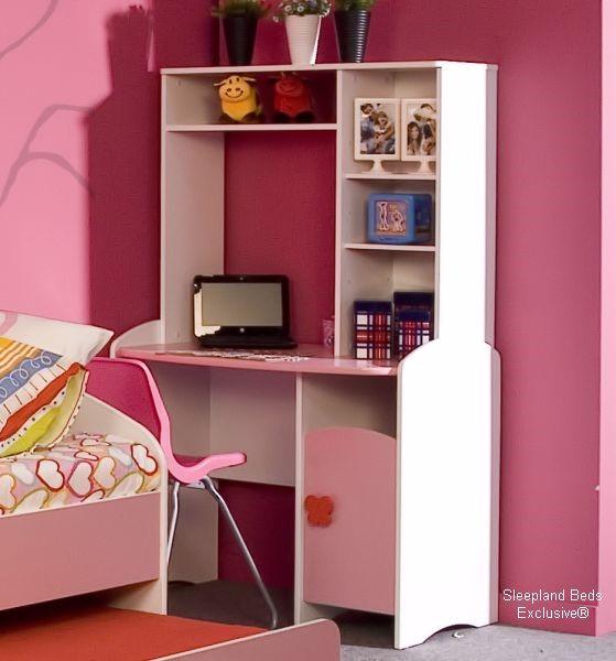 Pink Princess Butterfly Trundle Bed Pink Kids Bedroom Furniture Set