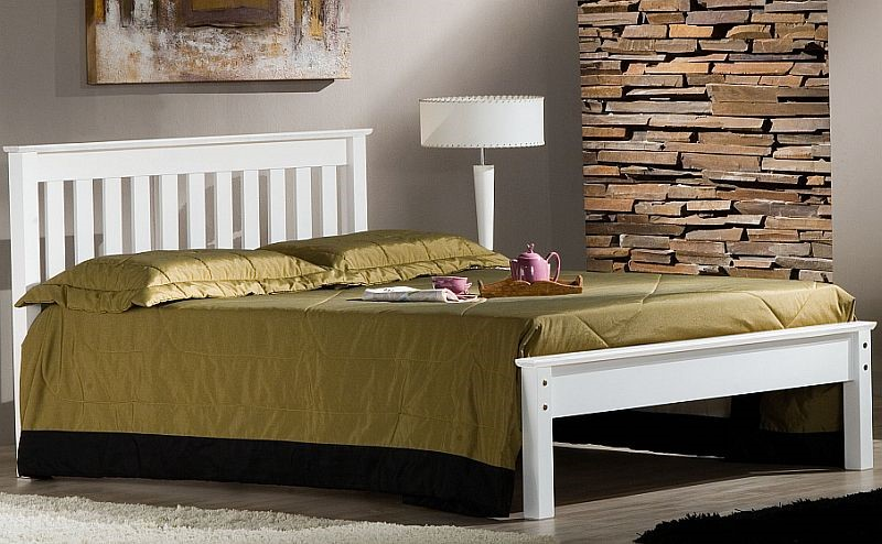 shaker bed frame white 3