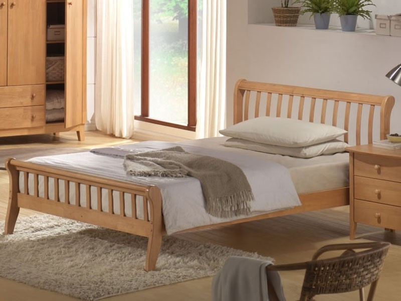 Joseph Leo Bed - Small Double Maple Wooden Frame