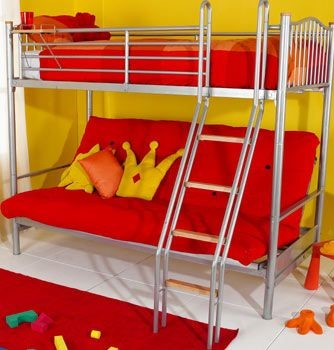 the hyder alaska futon bunk bed is a beautiful highsleeper with a thick double futon in a choice of vibrant colours  the futon is ideal for relaxation     hyder alaska futon bunk   double futon alaska bunk bed  rh   sleeplandbeds co uk