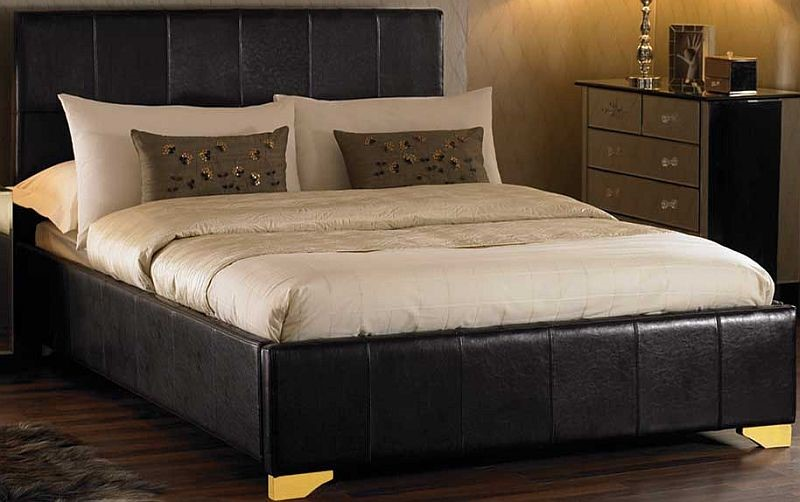 hyder monza bed frame double leather bed with drawers