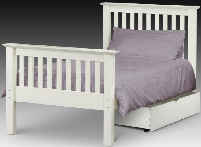 stone white barcelona wooden bed frame