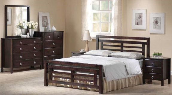 Colorado   Dark Wooden Bed Frame