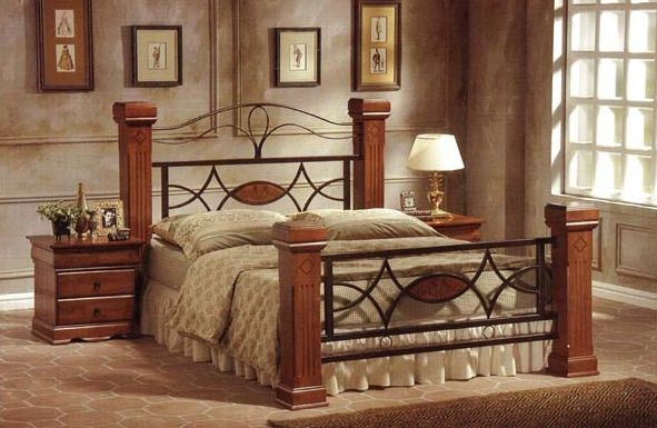 kingsize wood and metal bed frame metal and wood omega bed