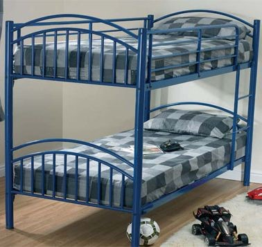 Blue Bunk Bed Metal Bunk Beds