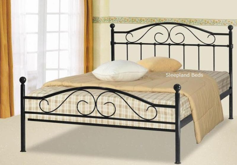 Sussex Black Metal Bed Frame 5ft Kingsize Black Metal Frame