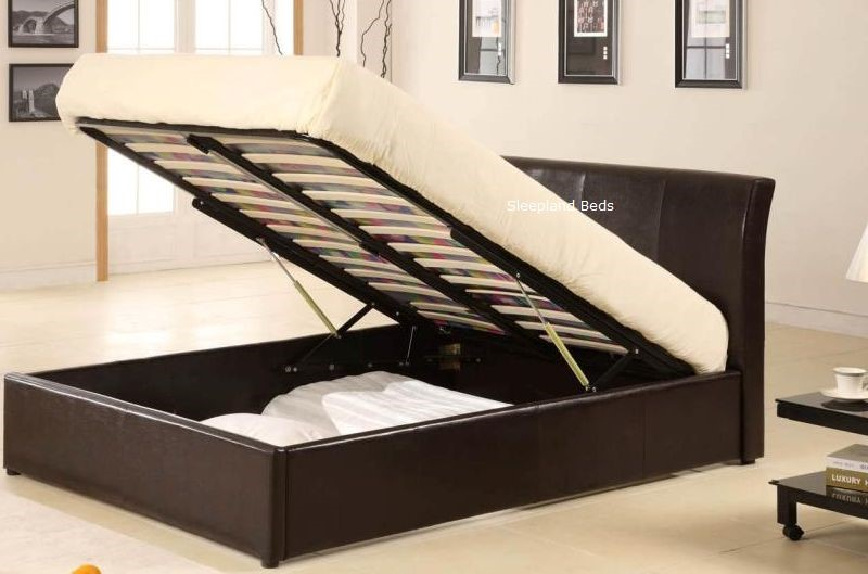 Great 4ft Ottoman Bed 4ft Leather Ottoman Bed