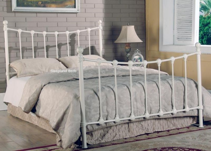 Metal Beds Tivoli 4ft Small Double Ivory Metal Bed Frame