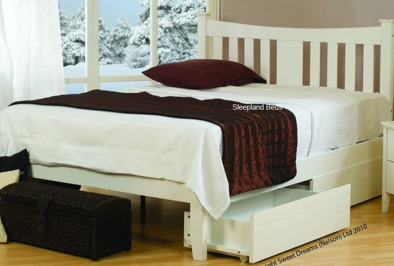 Sweet Dreams Kingfisher Bedframe White Double Bed Frame