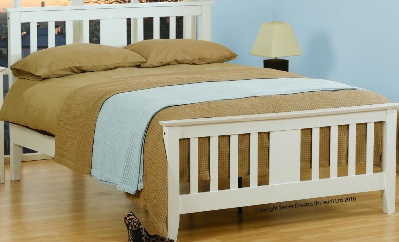 kestrel double bed frame double white bedstead
