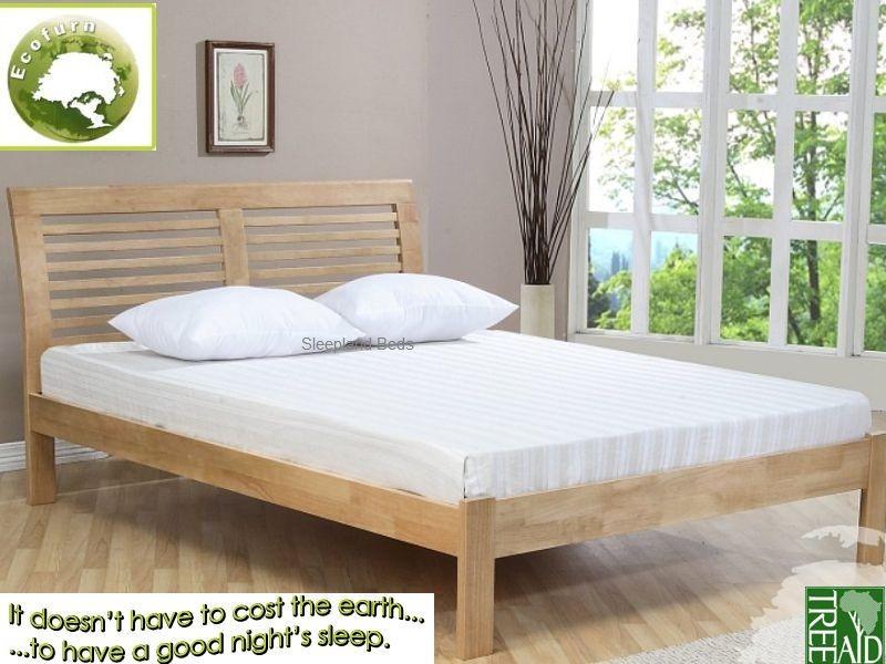 Ridgeway Eco Friendly Wooden Bed By Ecofurn 5ft Kingsize