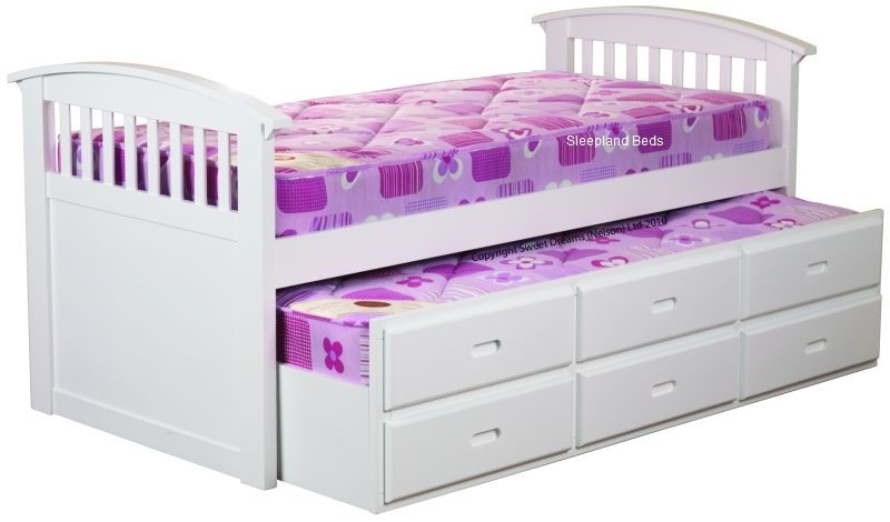 Sweet Dreams White Ruby Captains Bed | Sleepland Beds