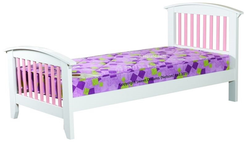 Ruby Pink Wooden Bed Frame Sweet Dreams | 3ft Single Pink & White