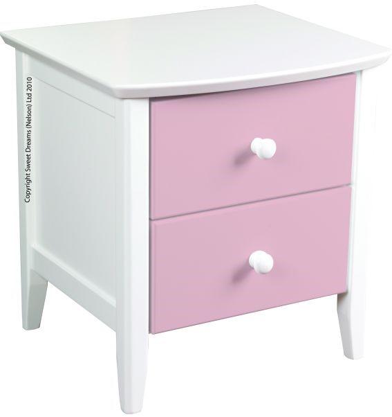 9526fda43dd2 Sweet Dreams Kipling Pink Bedside Cabinet