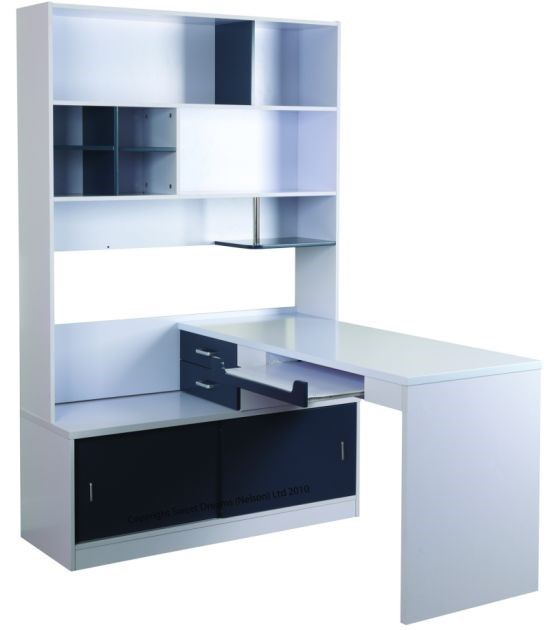 Wall Unit Desk Small Desk Bookshelf