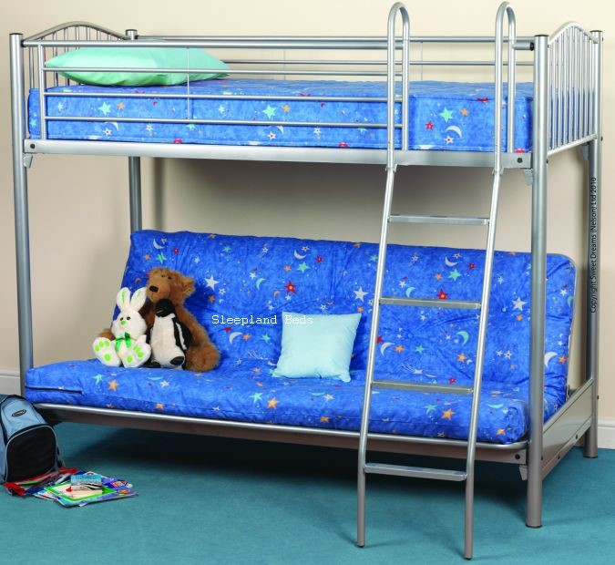 Sweet Dreams Troy Futon Bunk Highsleeper With Double Futon Bed