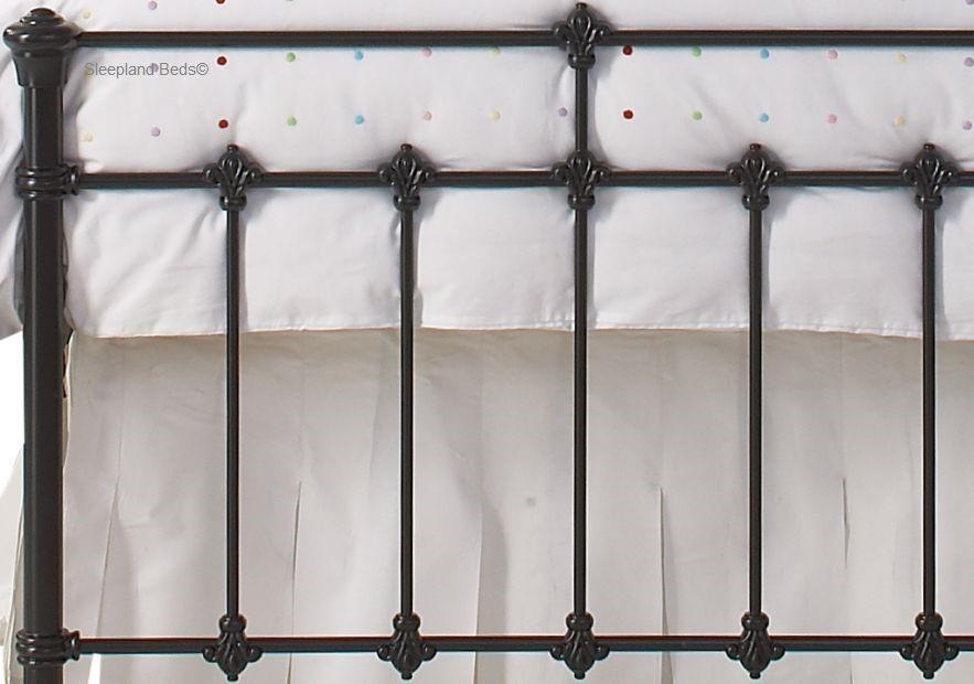 08d7b6fda618 OBC Edwardian Metal Bed Frame - 4ft 6