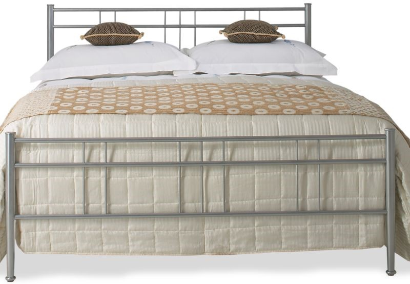 OBC Milano Silver Metal Bed Frame