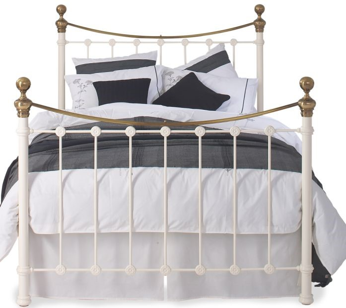 Double Iron and Brass Bed - OBC Selkirk By Original Bedstead Company