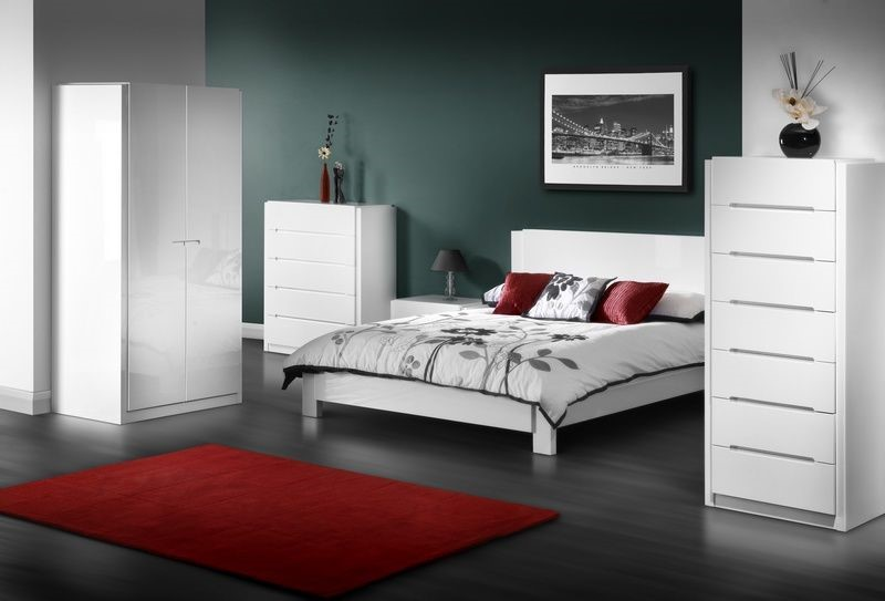 White Bedroom Furniture Uk dakota white bedroom furniture - high gloss white (multi buy sale
