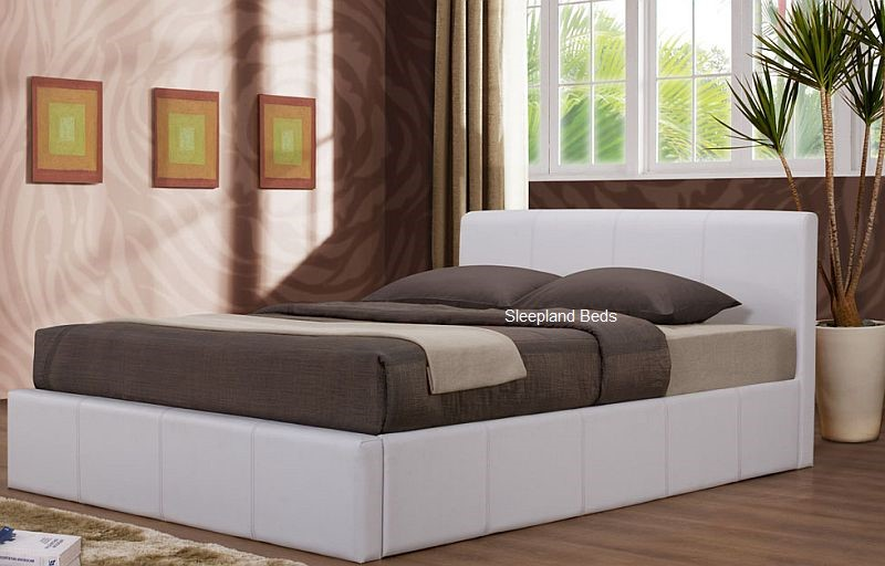 Birlea White Ottoman Bed 4ft White Ottoman Bed By Birlea