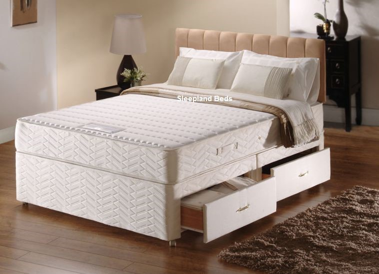 sealy memory support kingsize divan bed sealy silver memory foam - Sealy Memory Foam Mattress