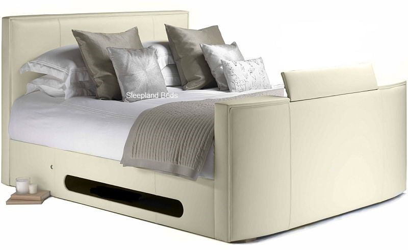 TV Beds | Ivory Cream New York TV Bed - 6ft Super Kingsize