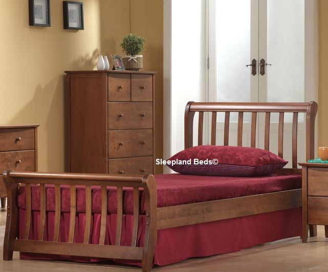 Oak Wooden Single Bed Frame