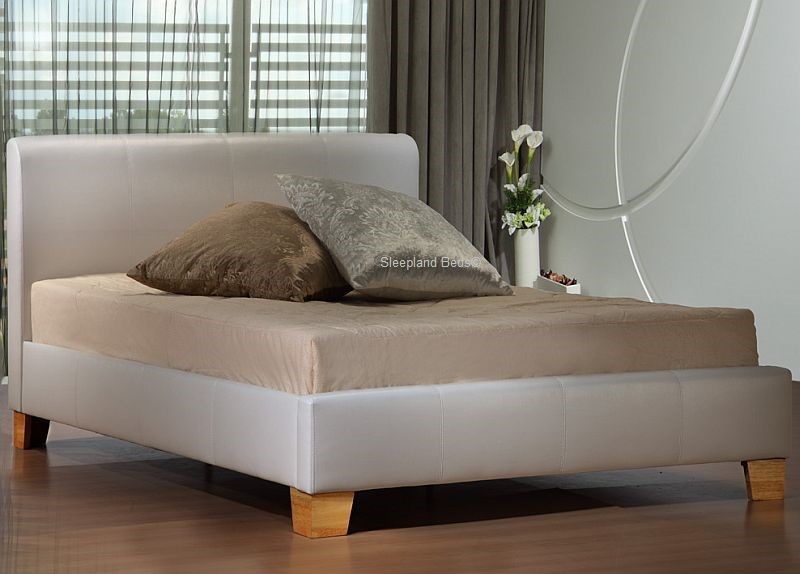 Signature Brooklyn White Faux Leather Bed Frame
