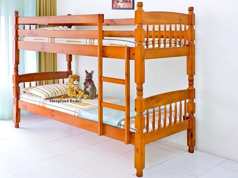 Pine Bunk Bed Pine Wooden Bunk Beds