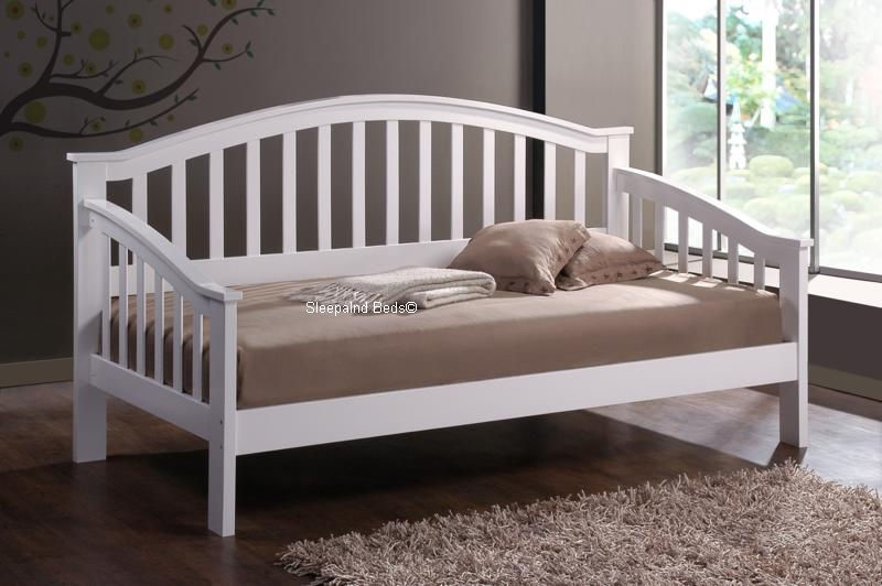 promo code 3c9cf 0f9dc Trundle Day Bed - Solid Wooden White Daybed With Guest Trundle