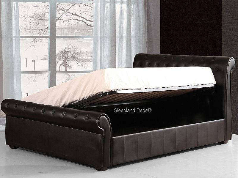 Luxury Black Chesterfield Ottoman Storage Bed The Carrington