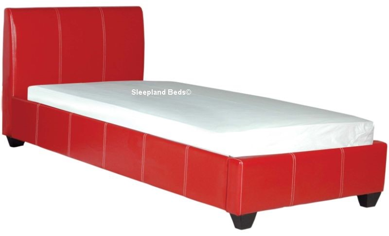 Red Faux Leather Paris Bed Frame - 5ft Kingsize