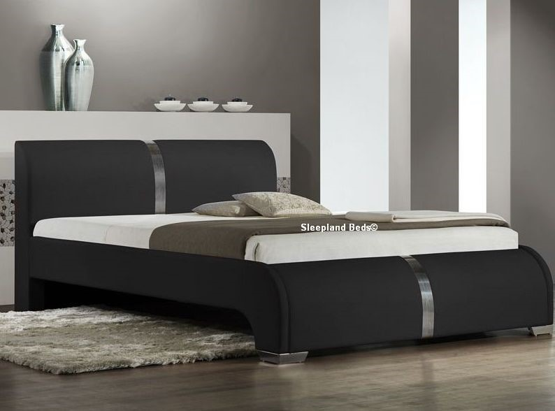 luxury matt black bed