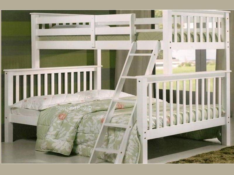 White Double Bunk Beds 3ft Over 4ft 6 Double Chiltern Bunk Bed