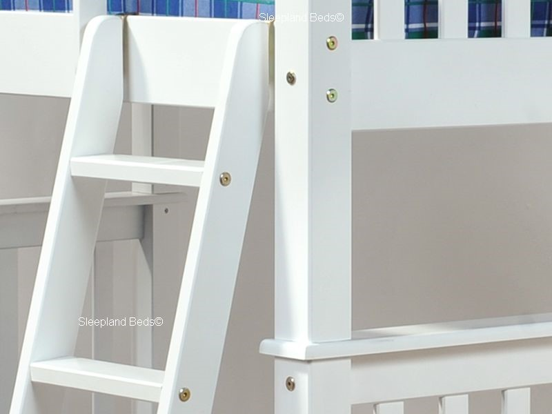White Small Double Bunk Bed Sleepland Beds