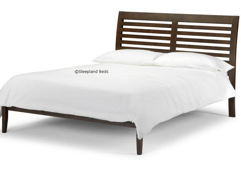 Santiago Dark Wenge Wooden Bed Frame - 5ft Kingsize