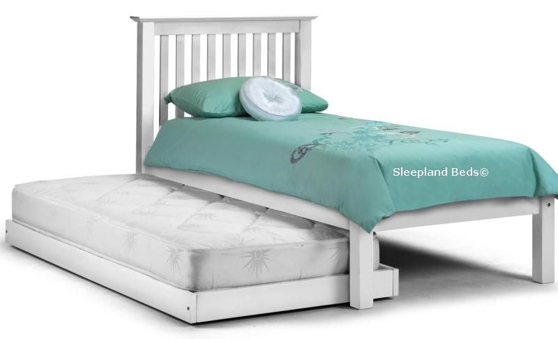 Barcelona Stone White Hideaway Wooden Guest Bed