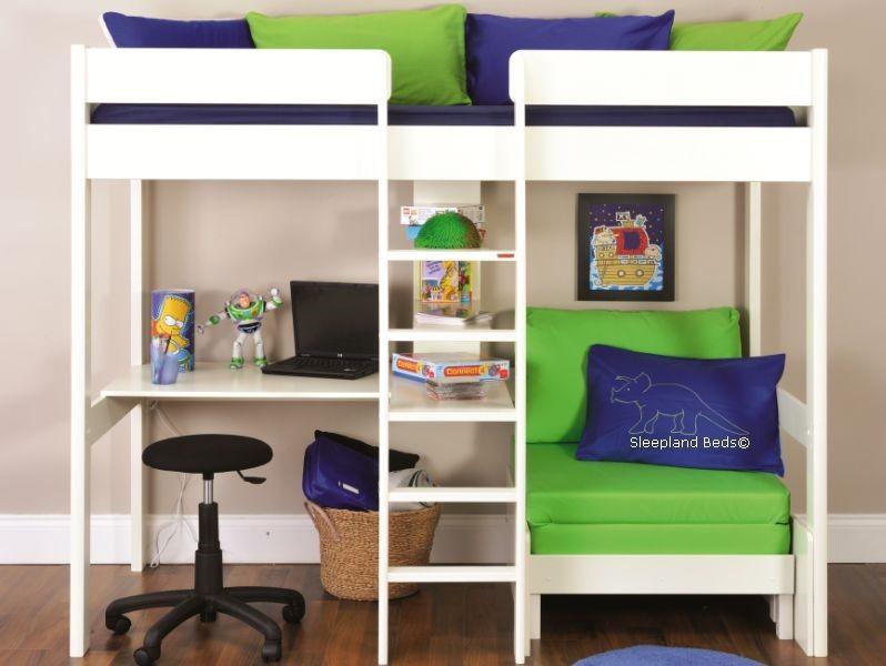 steens for kids high sleeper bed in whitewash high sleepers with futon and desk   furniture shop  rh   ekonomikmobilyacarsisi