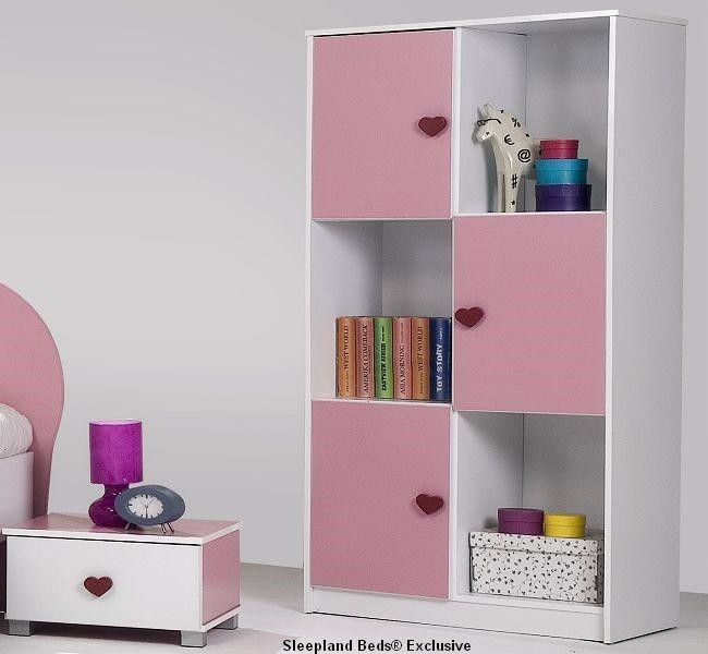 Pink Childrens Bedroom Furniture Set Pink Bedroom Furniture Bedside And  Storage Unit ...