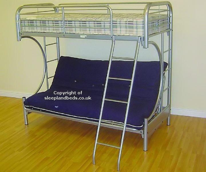 Strange Futon Bunk Bed Cynthia Bunk Beds With Futon Machost Co Dining Chair Design Ideas Machostcouk