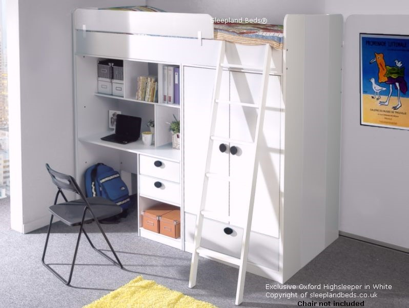 highsleeper bunk bed with desk single futon colours wooden high sleeper bed with desk and futon   furniture shop  rh   ekonomikmobilyacarsisi