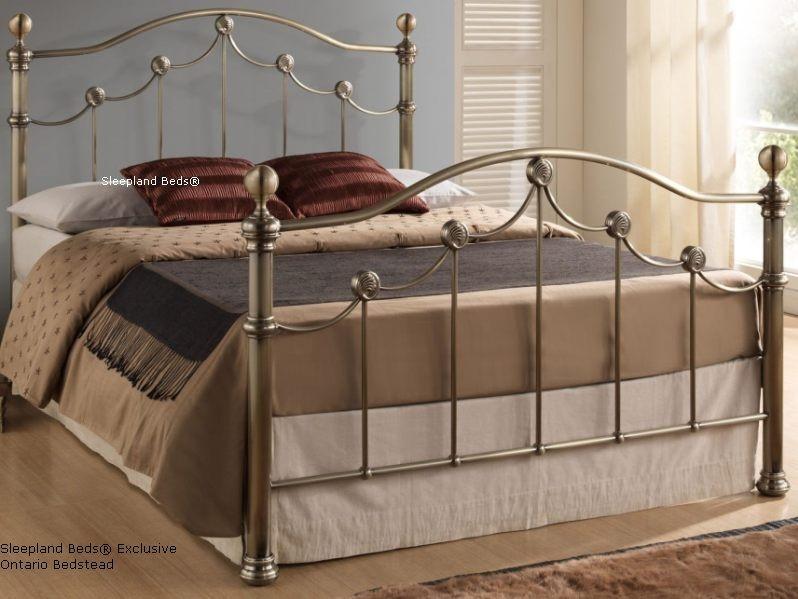 Brass Metal Bed Frame - 4ft6\