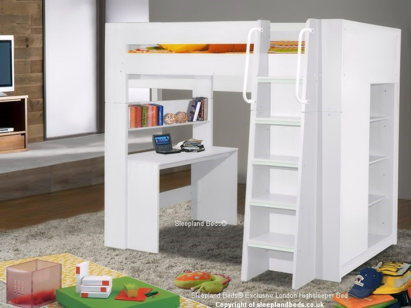 White London High Sleeper Bed Sleepland Beds