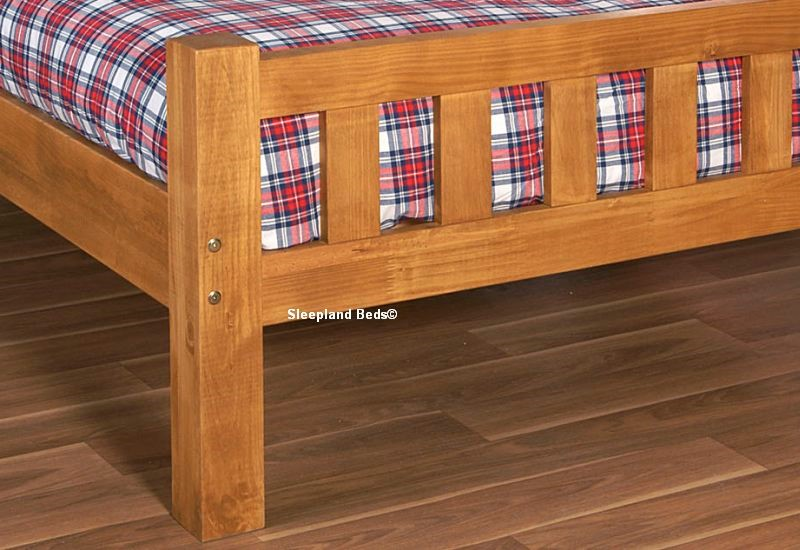 signature austin small double wooden bed frame wooden bed frame honey pine wooden bed frame - Bed Frames Austin
