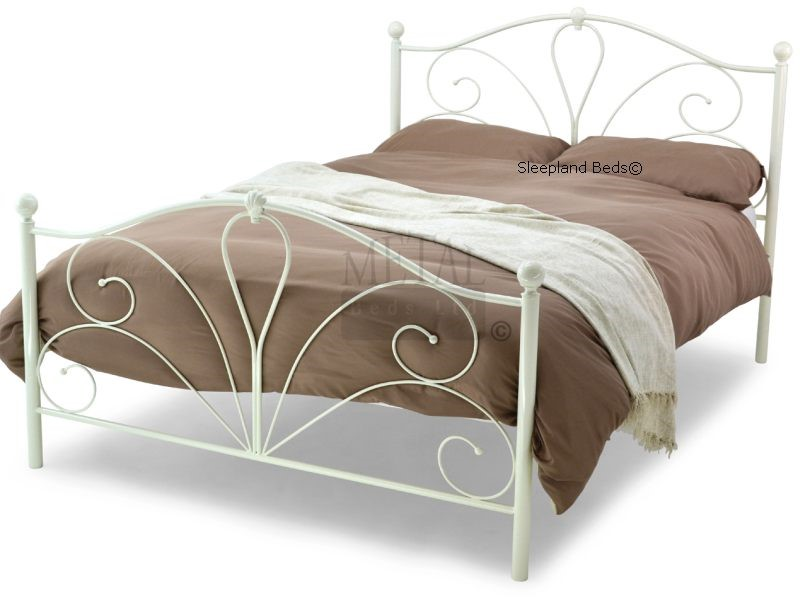 Metal Beds Romance Ivory White Metal Bed Frame 3ft Single