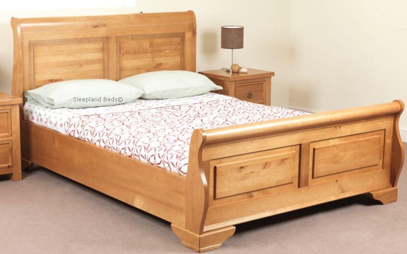 Jackdaw Wooden Sleigh Bed In Oak By Sweet Dreams Sleepland Beds